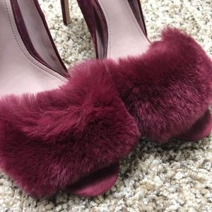 AD & Daughters Shoes - A•D & Daughters Brannon Red Wine Suede Heels